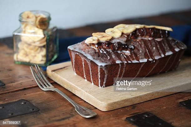 homemade banana bread - rekha garton stock pictures, royalty-free photos & images