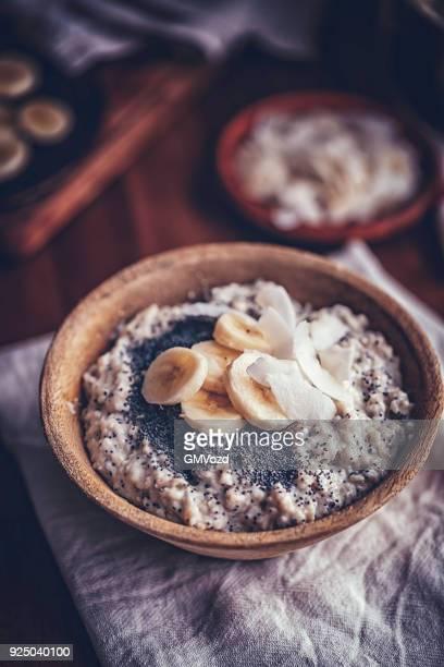 Homemade Banana Coconut Porridge with Poppy Seeds