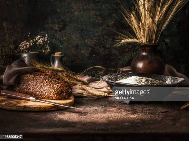 homemade bread bake - rye grain stock pictures, royalty-free photos & images