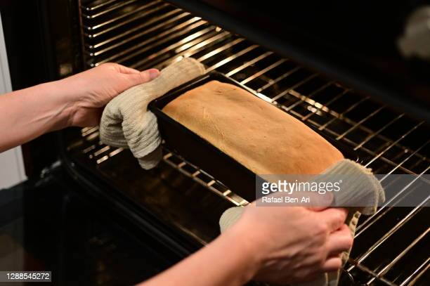homemade bread baked in an oven - rafael ben ari ストックフォトと画像