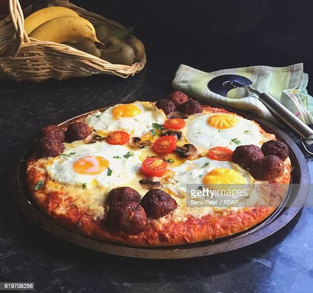 Homemade breakfast pizza