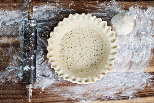Homemade Butter Pie Crust in Pie Plate 1048824674