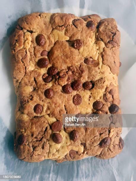 homemade chocolate and peanut butter brownie cake - rafael ben ari - fotografias e filmes do acervo