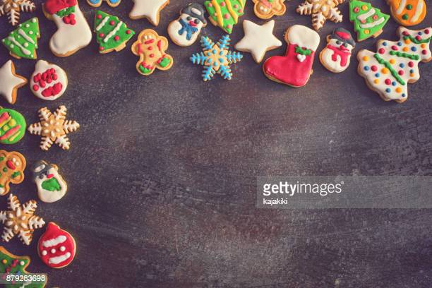 homemade christmas gingerbread cookies - gingerbread man stock photos and pictures