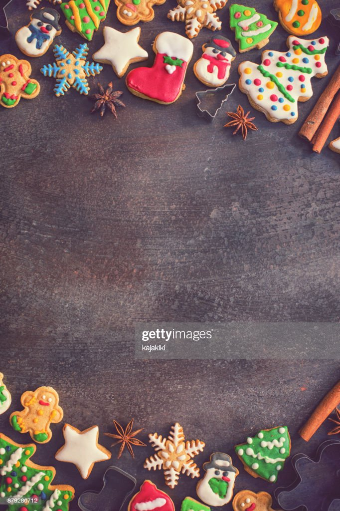 Homemade Christmas Gingerbread Cookies : Stock Photo