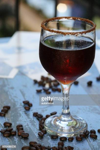 homemade coffee liqueur - coffee drink stock pictures, royalty-free photos & images