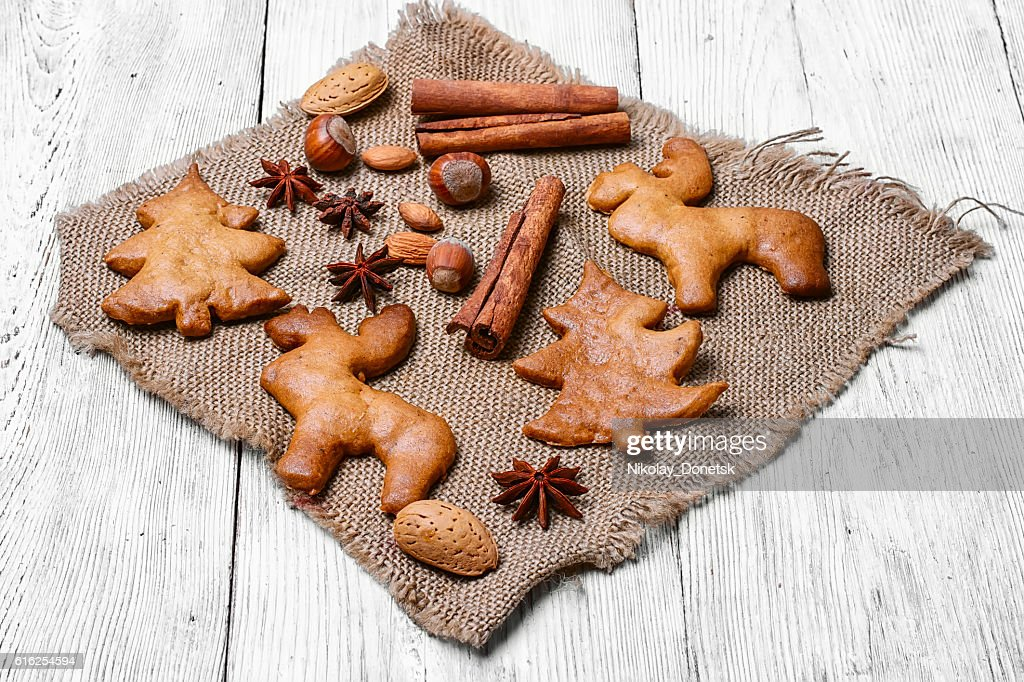 Galletas caseras de Navidad : Foto de stock