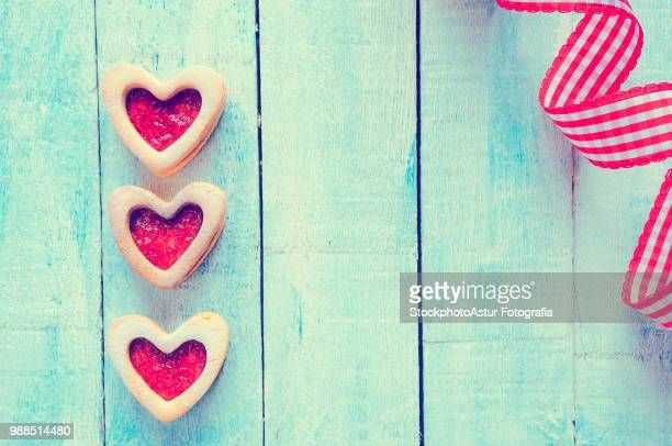 homemade cookies for valentine. - animal internal organ stock photos and pictures