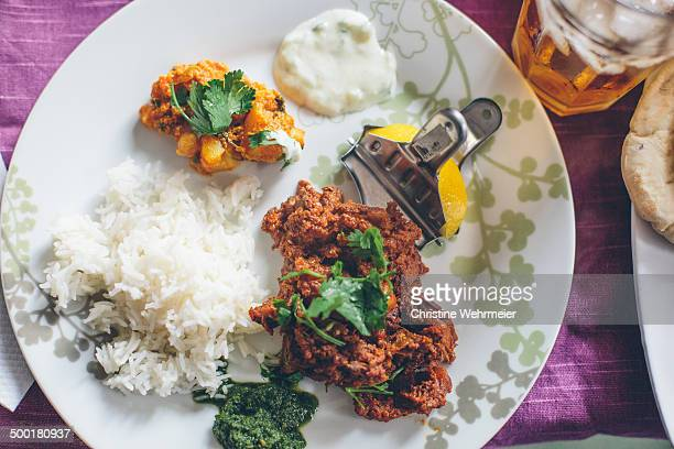 homemade curry dish - christine wehrmeier stock photos and pictures