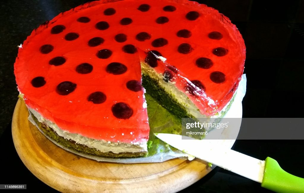 Homemade Dessert Forest Moss Cake Spinach Cake High Res Stock