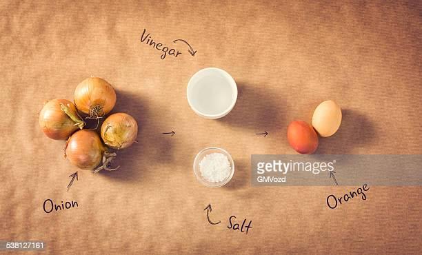 Hausgemachte gefärbt Ostern Eier mit Zwiebeln.