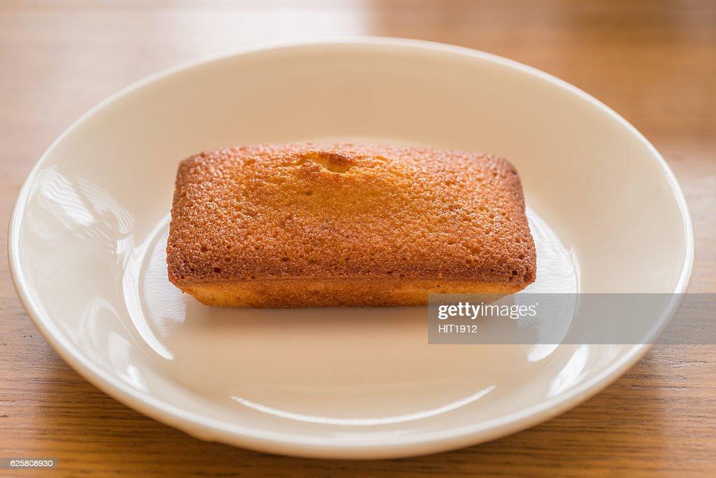 homemade financier cake : Stock Photo