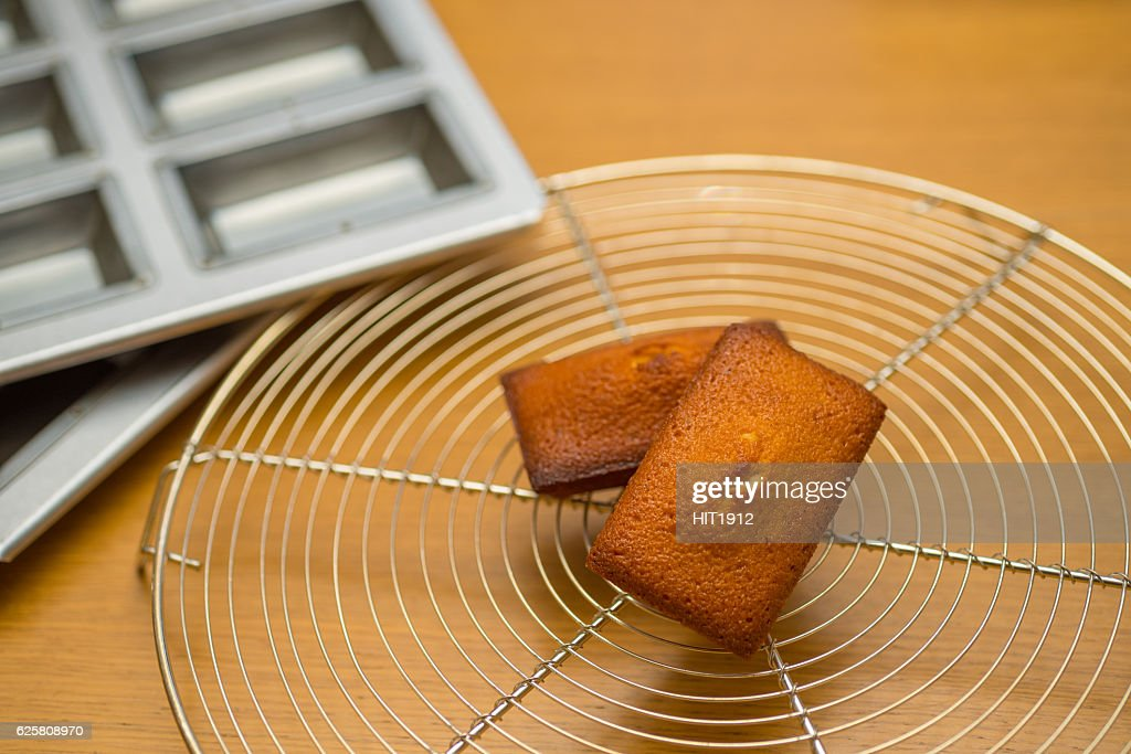 homemade financier cake : Stock Photo