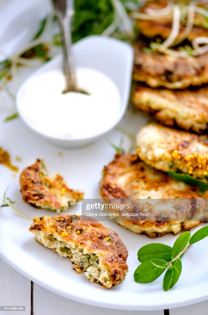 Homemade fried fish cutlets.selective focus : Foto de stock
