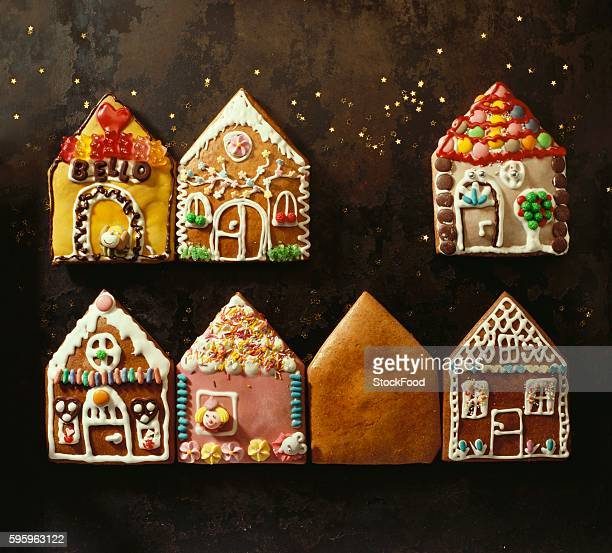Home-made gingerbread in the shape of small houses