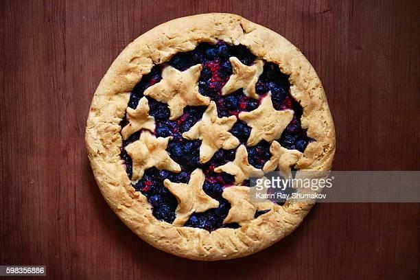 Homemade Gluten Free Raspberry-Blueberry Pie