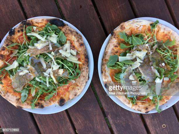 Homemade gourmet wood fired pizzas