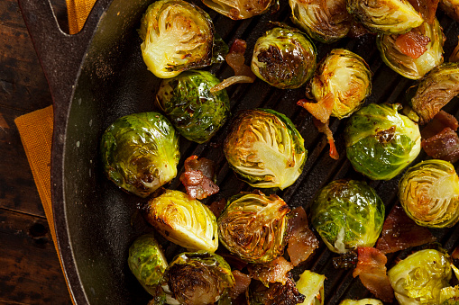 Homemade grilled Brussels sprouts 471939195