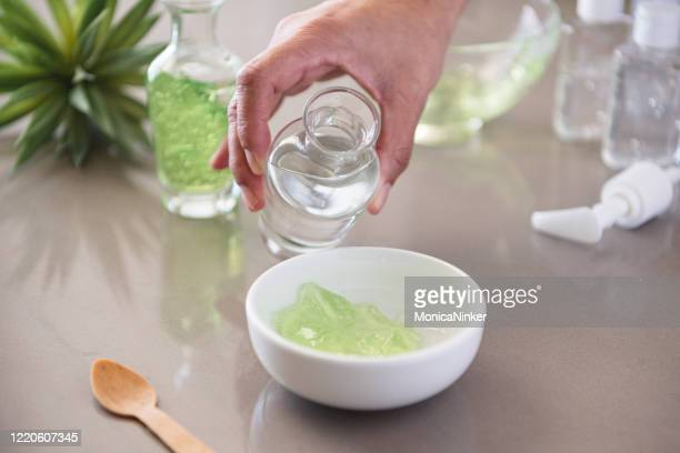 homemade hand sanitizer - cosmetics stock pictures, royalty-free photos & images