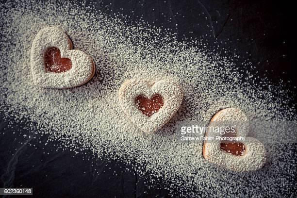 Homemade Heart shortbreads