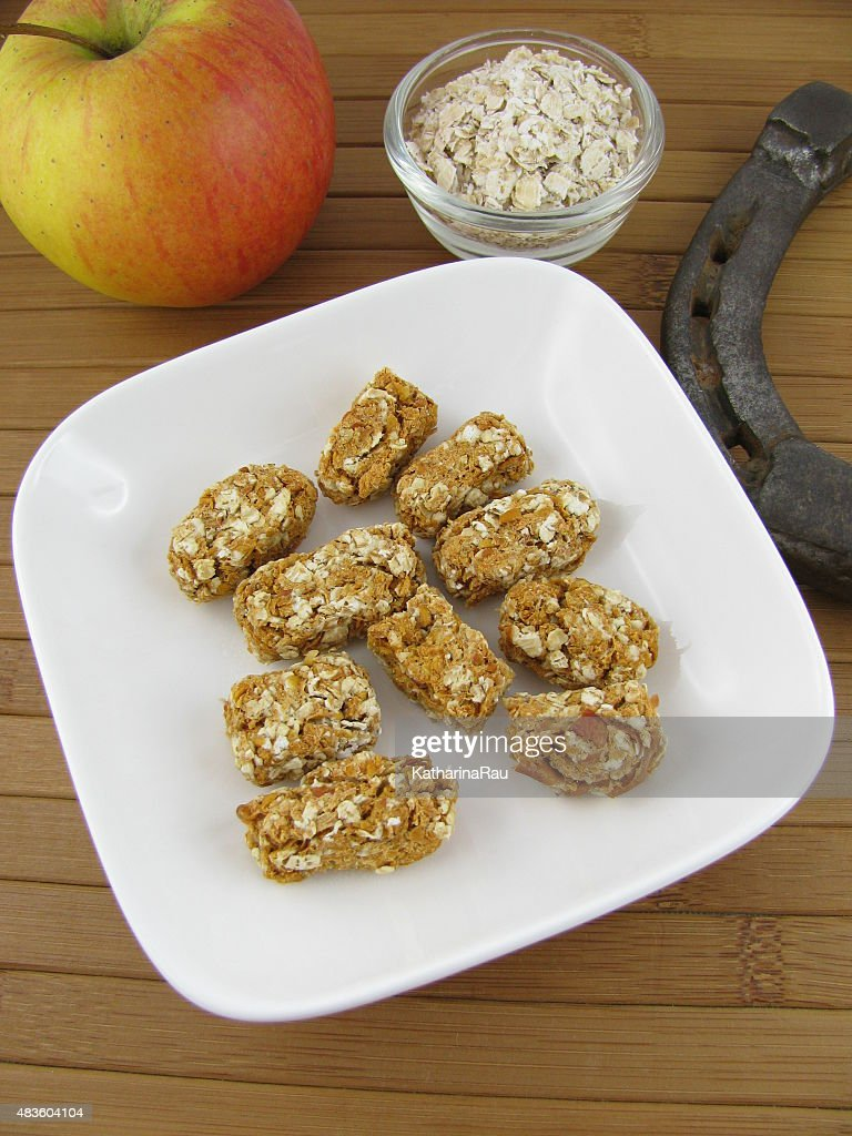 Homemade Horse Treats With Apples And Rolled Oats High Res Stock Photo Getty Images