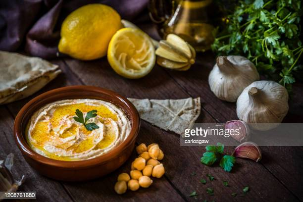 homemade hummus - lebanon country stock pictures, royalty-free photos & images