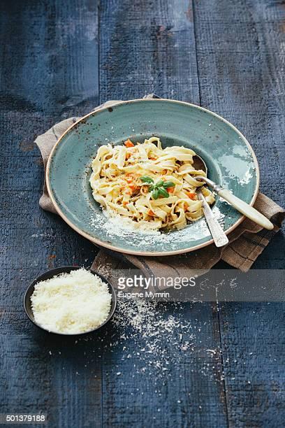 Homemade Italian egg pasta