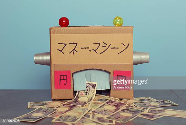 Homemade Japanese Money Machine Making Yen