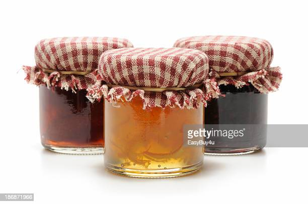homemade jelly or jam - jam stock pictures, royalty-free photos & images