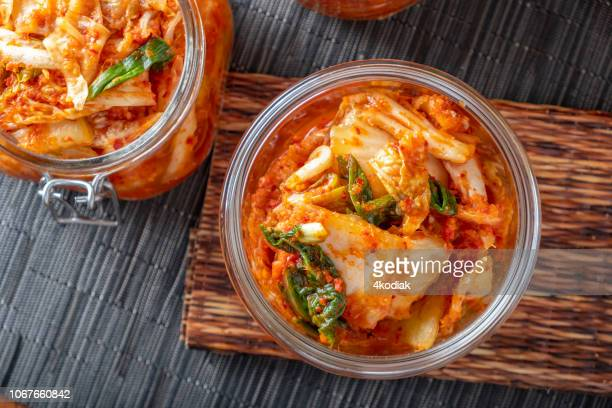 homemade kimchee - fermenting stock pictures, royalty-free photos & images