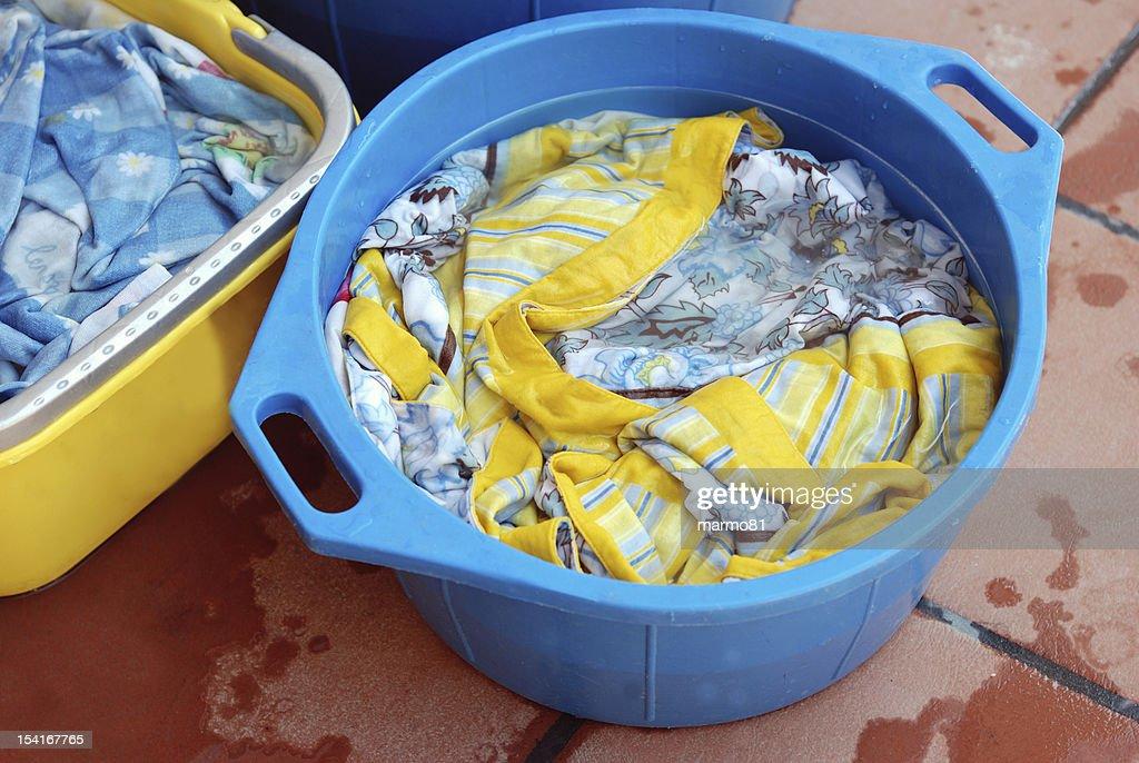 homemade laundry : Stock Photo