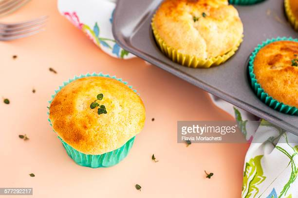 Homemade lemon and thyme muffins