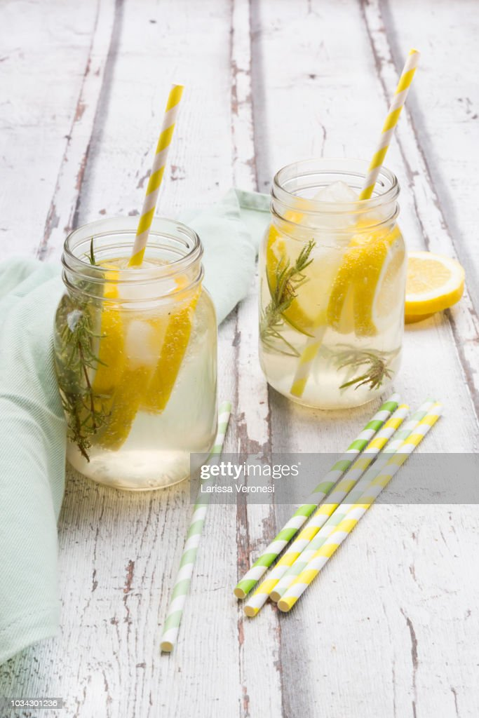 Homemade lemonade with rosemary : Stock-Foto