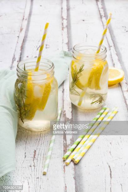 Homemade lemonade with rosemary