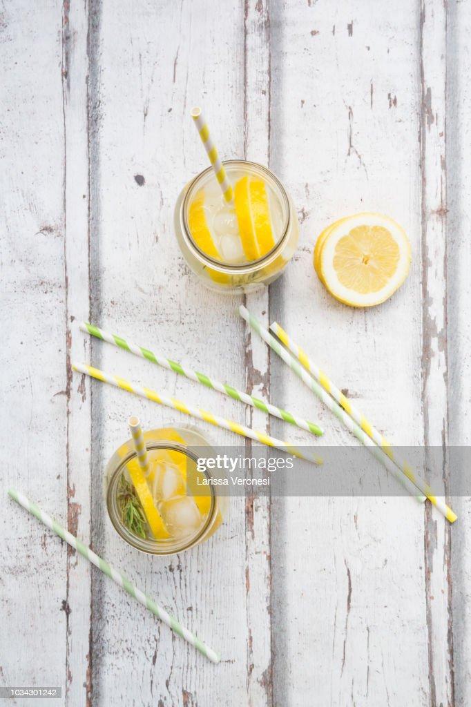 Homemade lemonade with rosemary : Photo