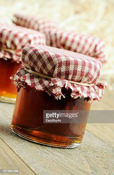 Hausgemachte maple Gelees und Sirup