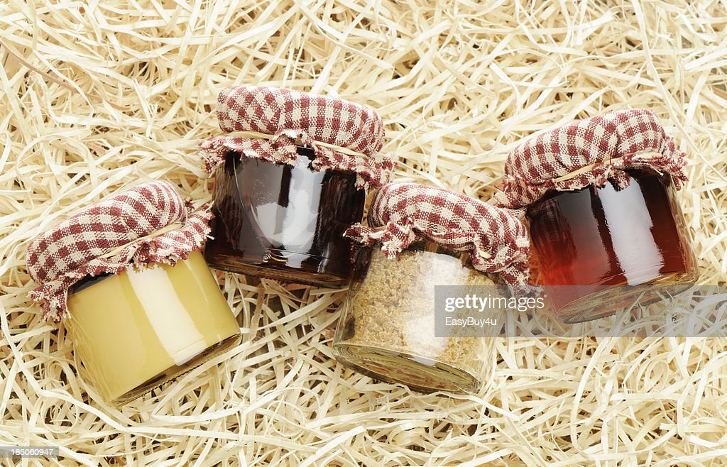 Homemade maple products : Stock Photo