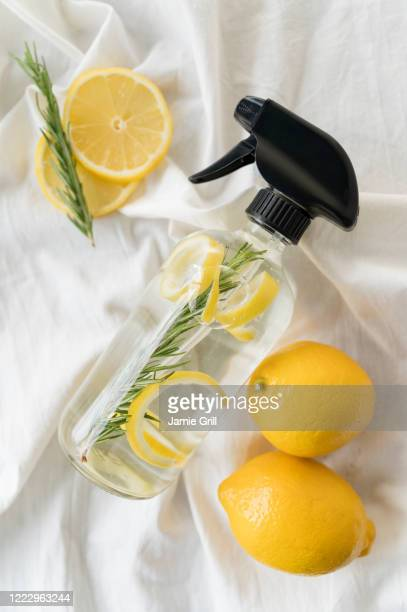 homemade natural cleaning spray - cleaning agent stock pictures, royalty-free photos & images