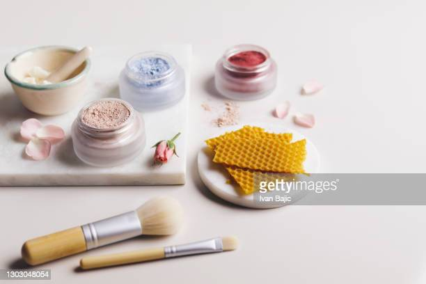 homemade organic make-up - natural condition stock pictures, royalty-free photos & images