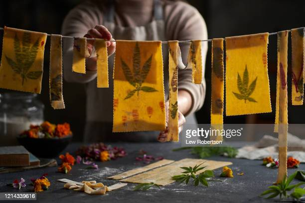 homemade pasta - marijuana leaf stock pictures, royalty-free photos & images