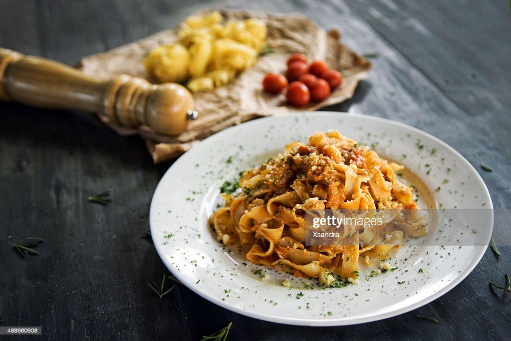 Homemade pasta : Stock Photo