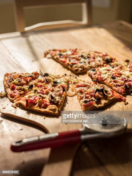 Homemade Pizza on wooden table