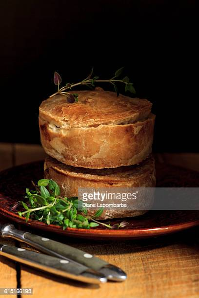Homemade Pork Meat Pies On A Plate