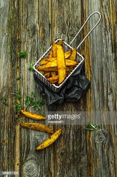 Homemade potato wedges