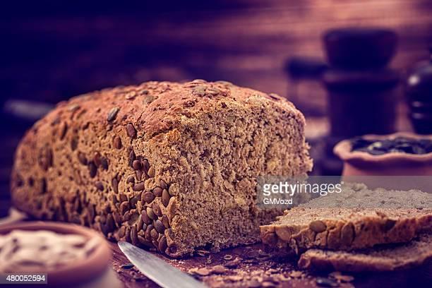 Homemade Pumpkin Whole Grain Bread