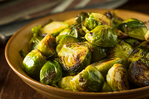 Homemade Roasted Green Brussel Sprouts 875866426