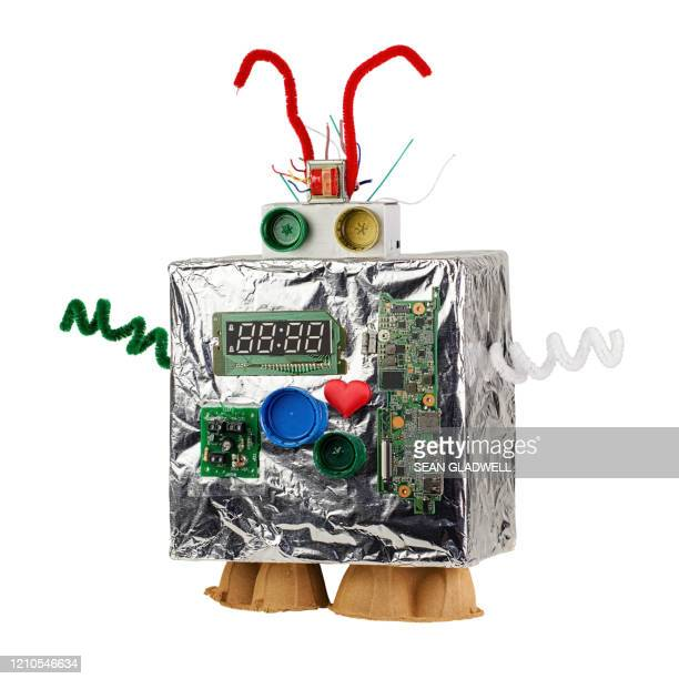 homemade robot - home made stock pictures, royalty-free photos & images