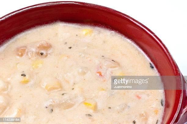 自家製スープエビトウモロコシ