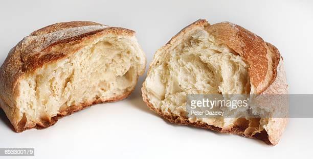 Homemade soda bread close up
