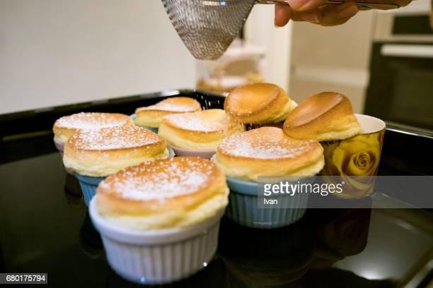 Homemade Souffle with Sugar powder